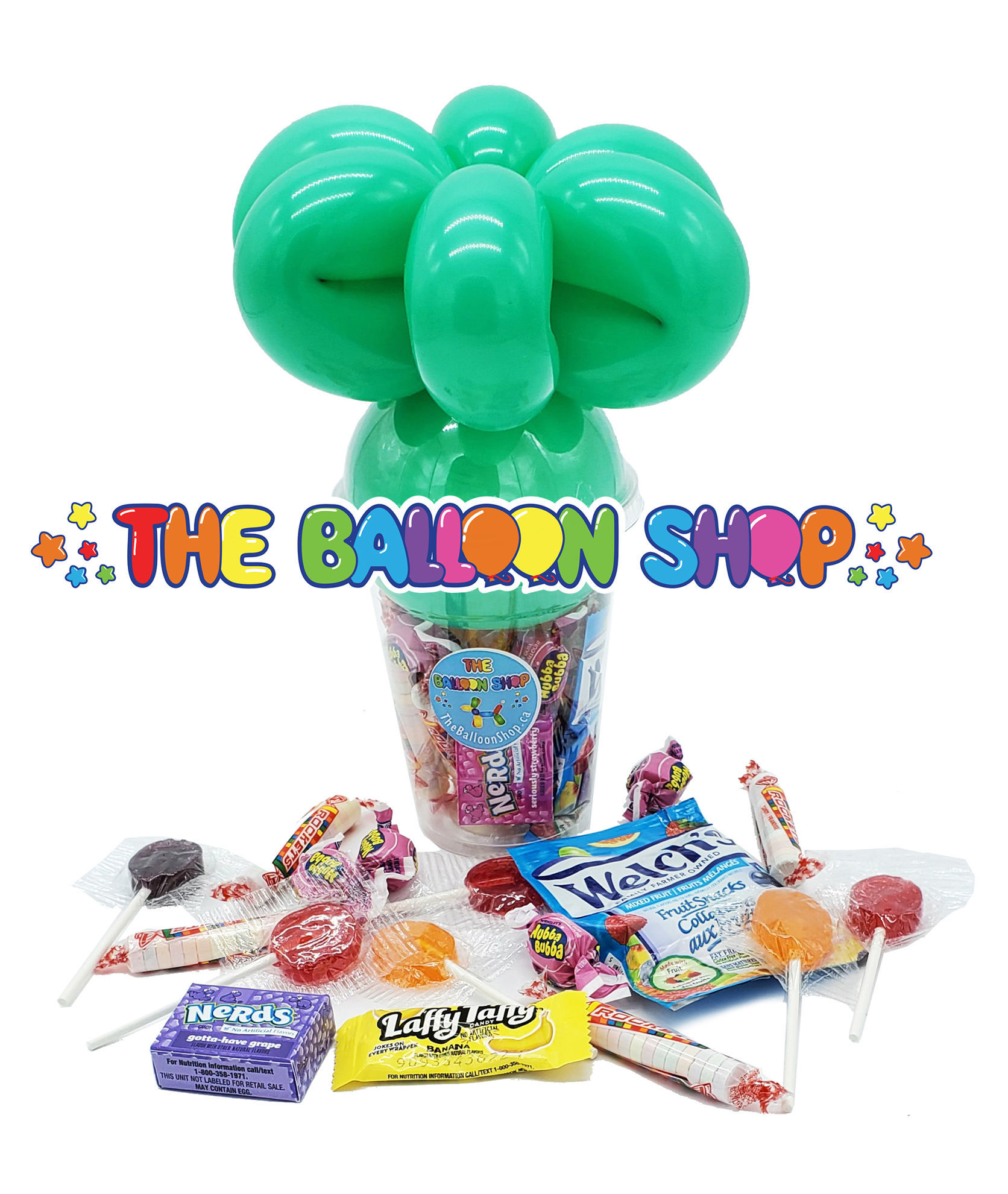 Picture of 5'' Smile Face - Balloon Candy Cup
