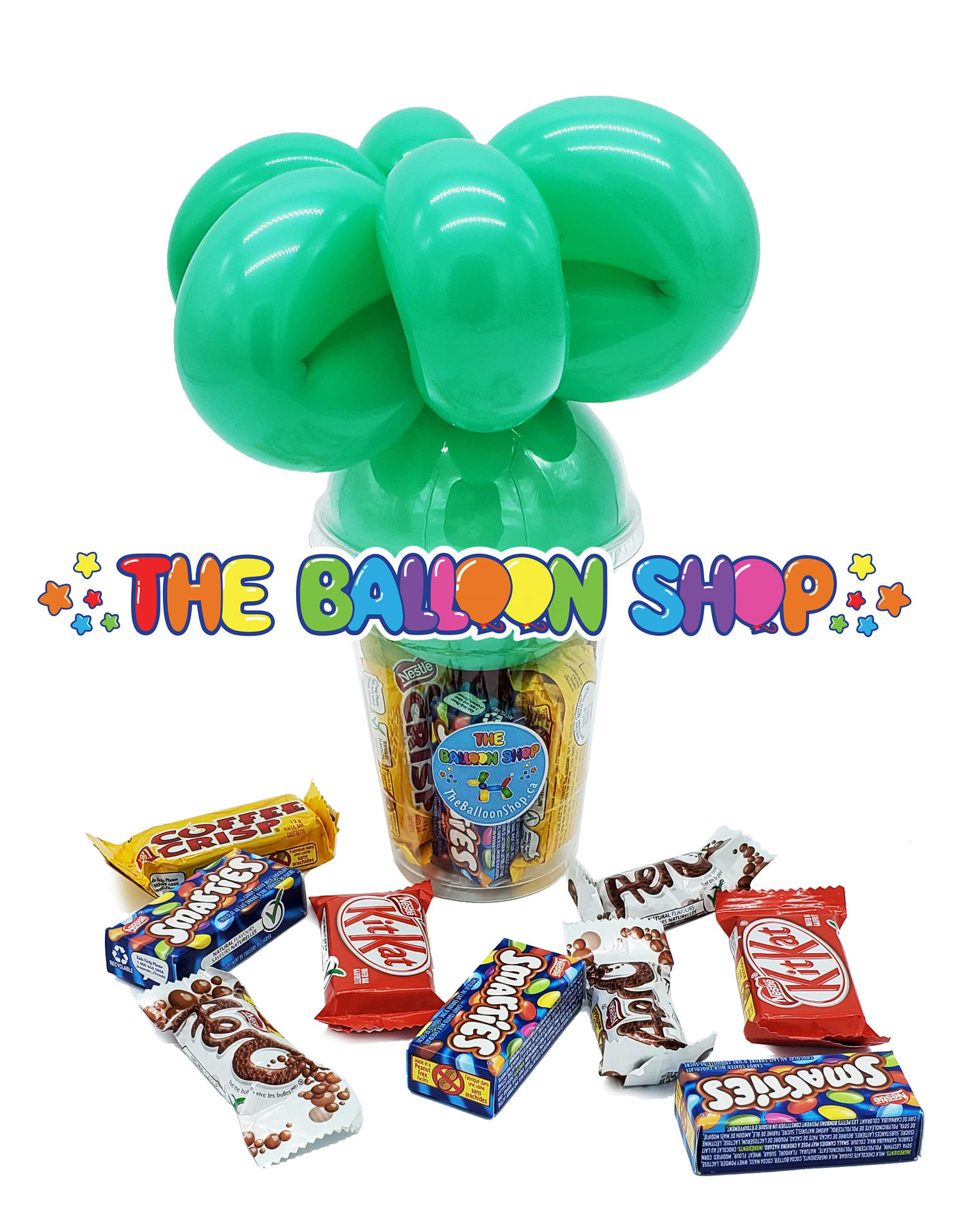Picture of Google Eyes Topper  - Balloon Candy Cup