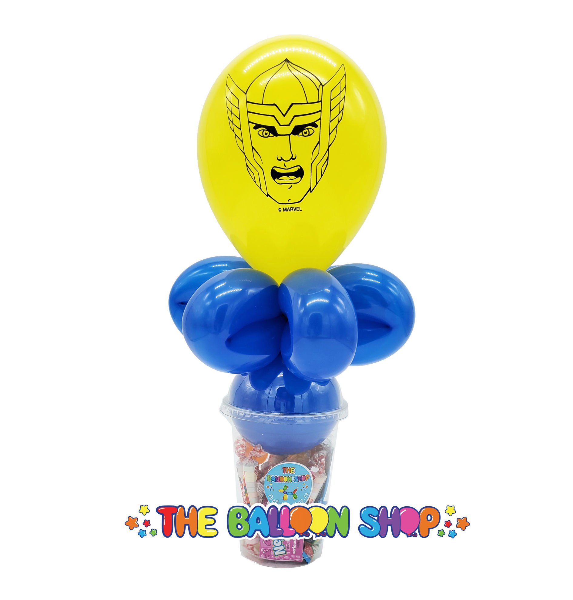 Picture of Thor Face  - Balloon Candy Cup