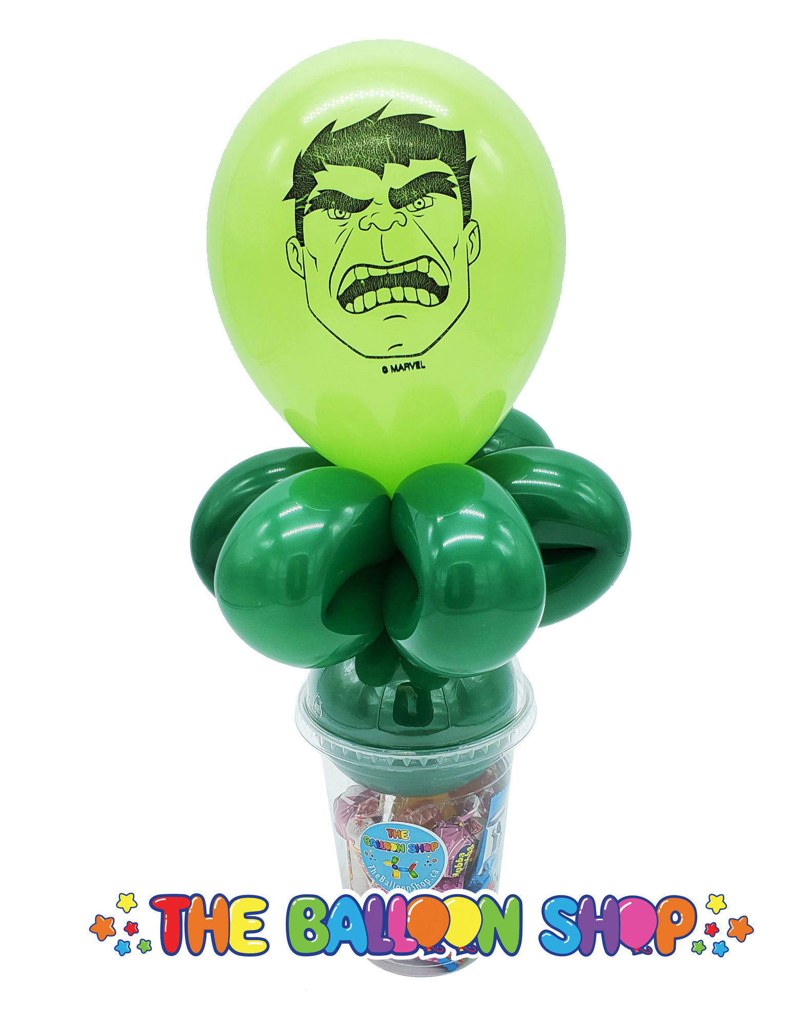 Picture of Hulk  Face  - Balloon Candy Cup