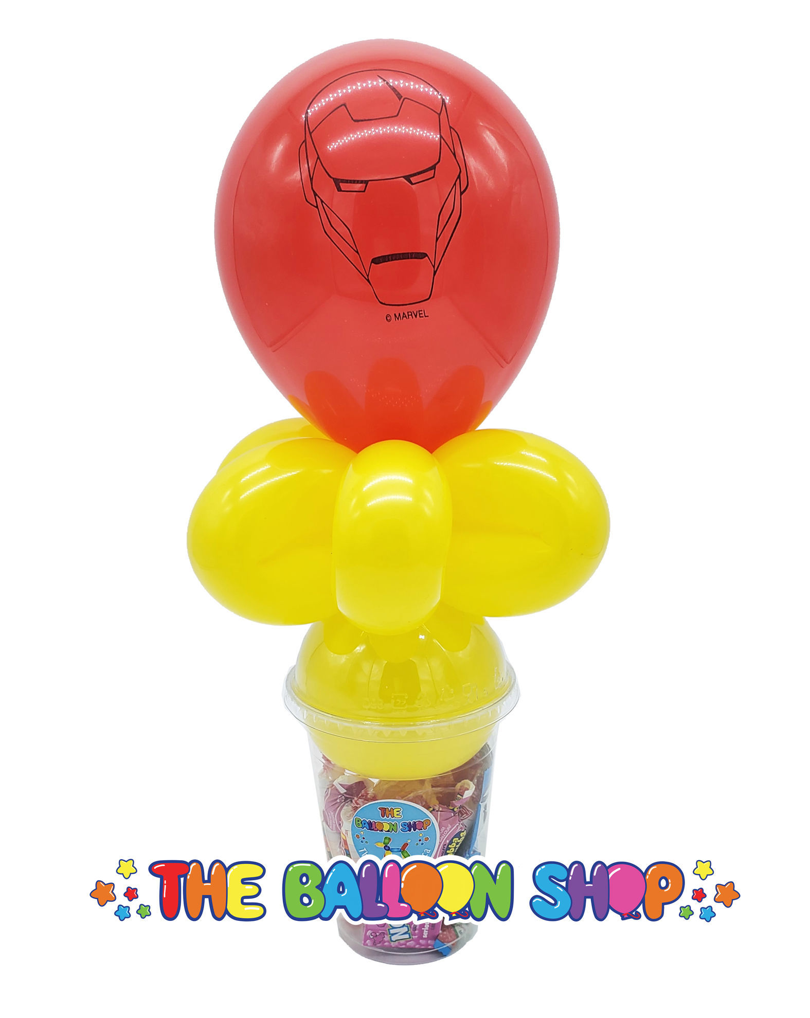 Picture of Iron Man Face  - Balloon Candy Cup