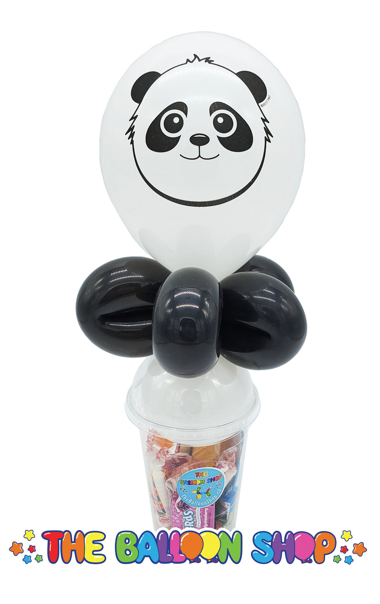 Picture of Panda Face - Balloon Candy Cup