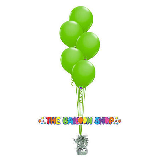 Picture of 11 Inch Helium Balloon Bouquet of 5