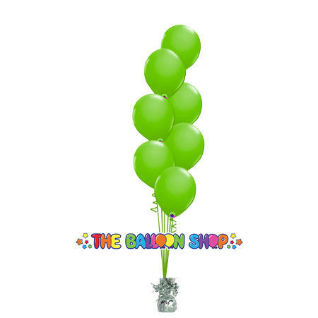Picture of 11 Inch Helium Balloon Bouquet of 7 (Cascaded)
