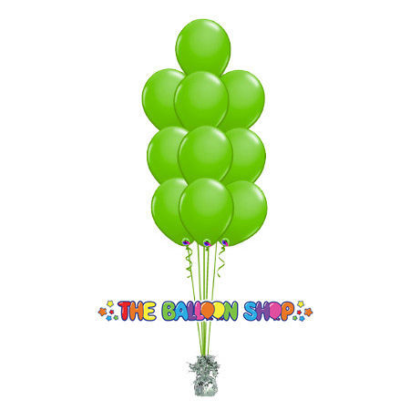 Picture of 11 Inch Helium Balloon Bouquet of 10