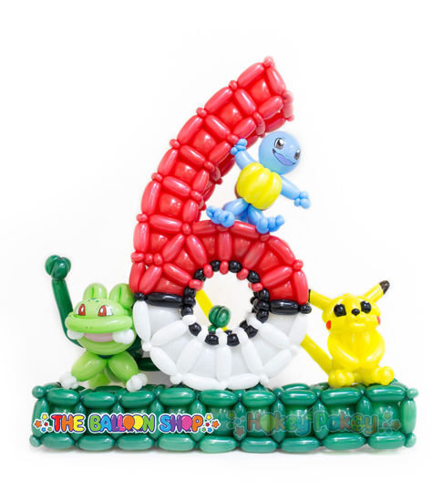 Picture of Number 6 Pokemons Balloon Arrangements