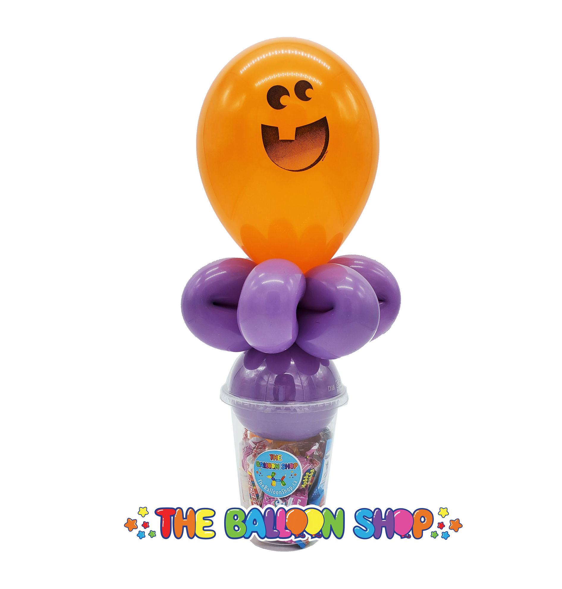 Picture of Jack O'Lantern Face  - Balloon Candy Cup