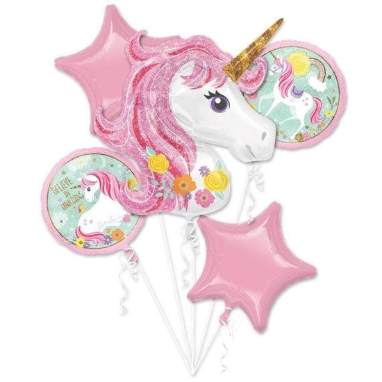 Picture of Balloon Bouquet - Magical Unicorn Foil Balloons (5 pc)