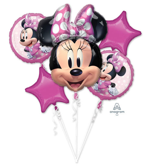 Picture of Balloon Bouquet - Minnie  Mouse Forever Foil Balloons (5 pc)