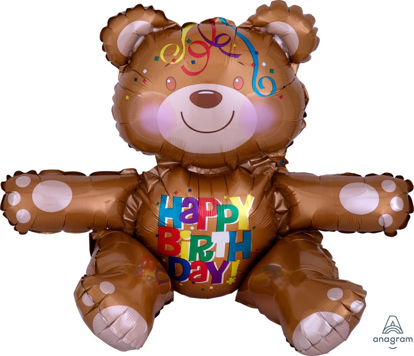 Picture of 19'' Happy Birthday Bear (air-filled)