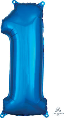 Picture of 26''Blue  Number 1 - Foil Balloon (helium-filled)