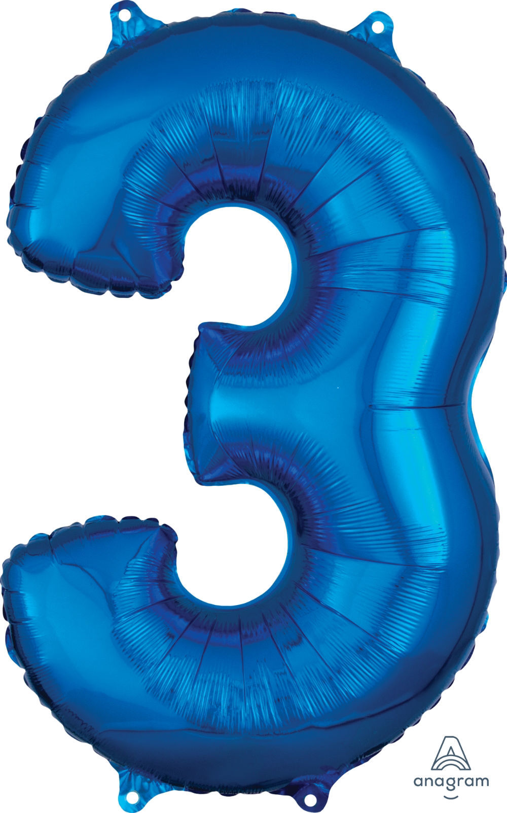 Picture of 26''Blue  Number 3 - Foil Balloon (helium-filled)
