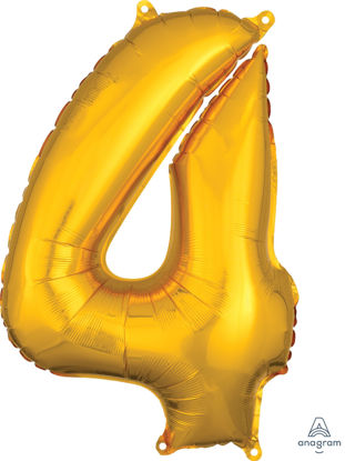 Picture of 26'' Gold Number 4 - Foil Balloon (helium-filled)