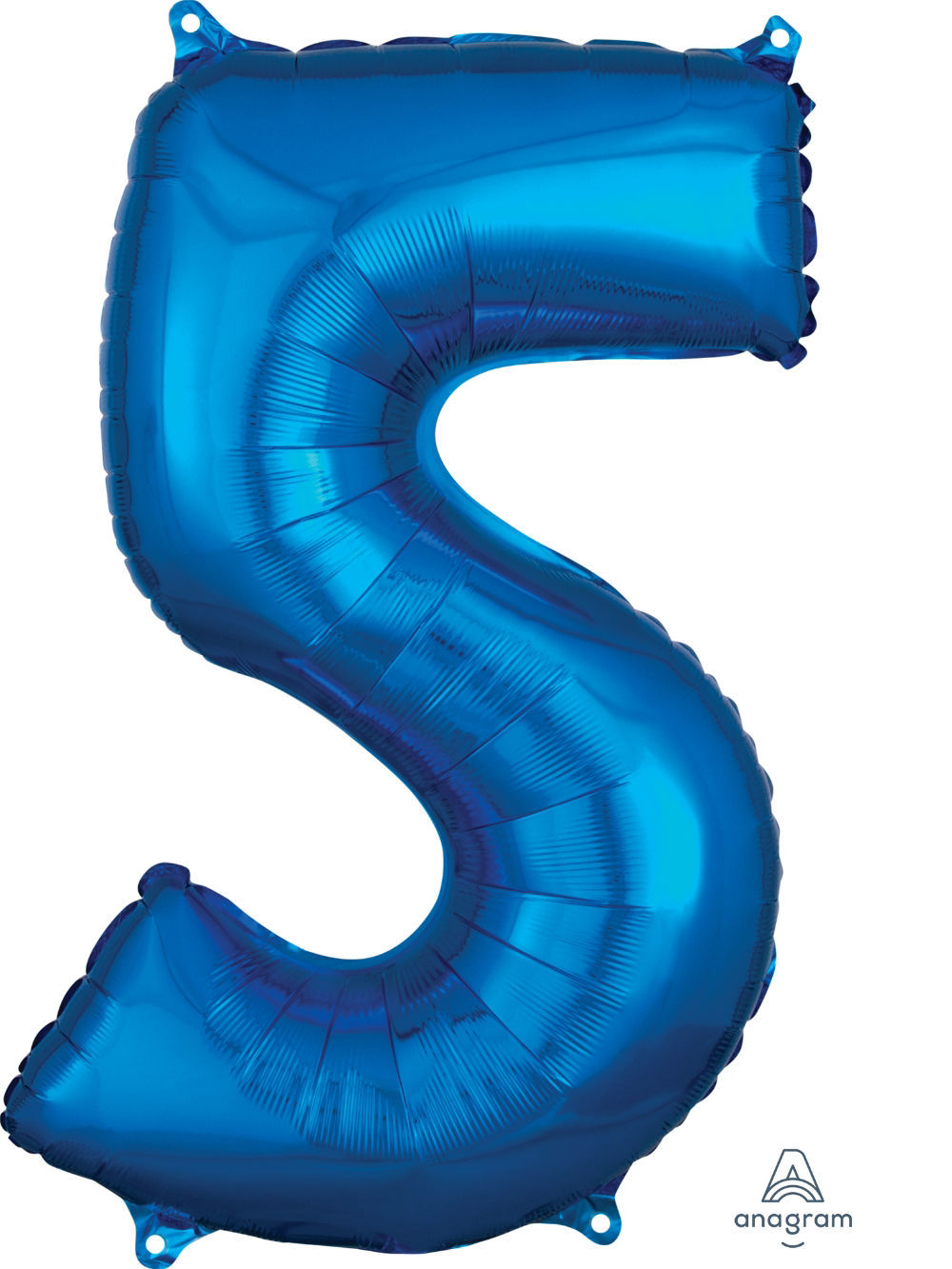 Picture of 26''Blue  Number 5 - Foil Balloon (helium-filled)
