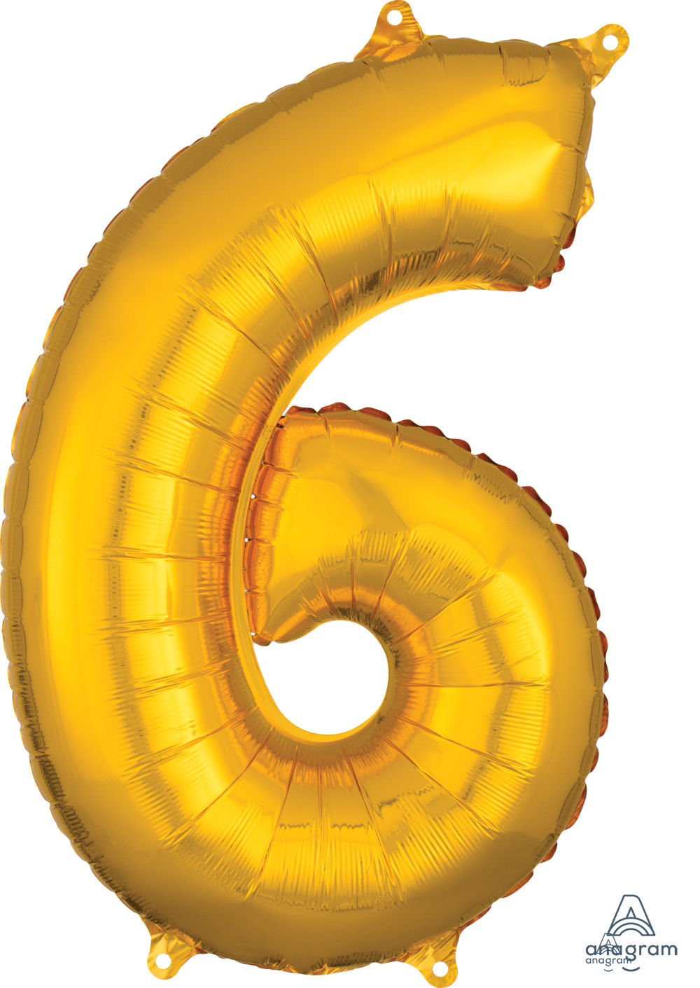 Picture of 26'' Gold Number 6 - Foil Balloon (helium-filled)