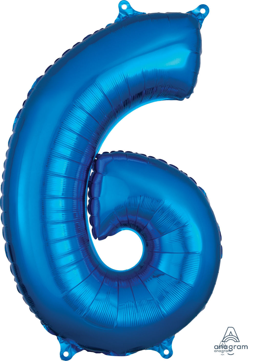 Picture of 26''Blue  Number 6 - Foil Balloon (helium-filled)
