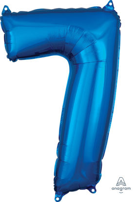 Picture of 26''Blue  Number 7 - Foil Balloon (helium-filled)