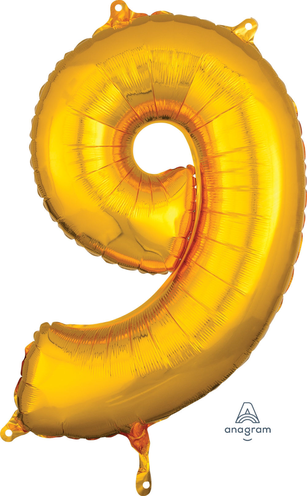 Picture of 26'' Gold Number 9 - Foil Balloon (helium-filled)