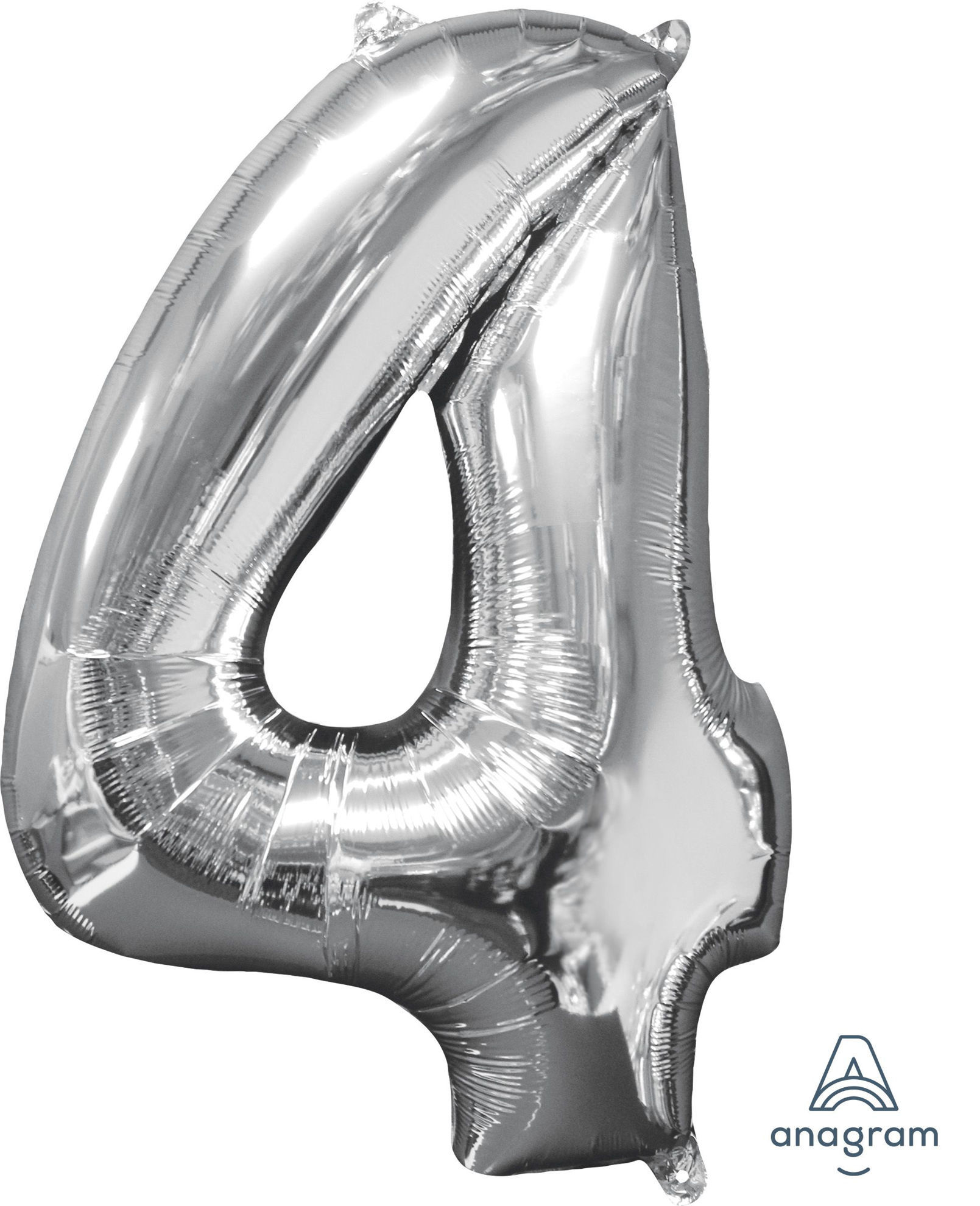 Picture of 26'' Silver Number 4 - Foil Balloon (helium-filled)