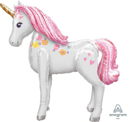 Picture of 46'' Giant Magical Unicorn  - Air Walker Balloon  (helium - filled)
