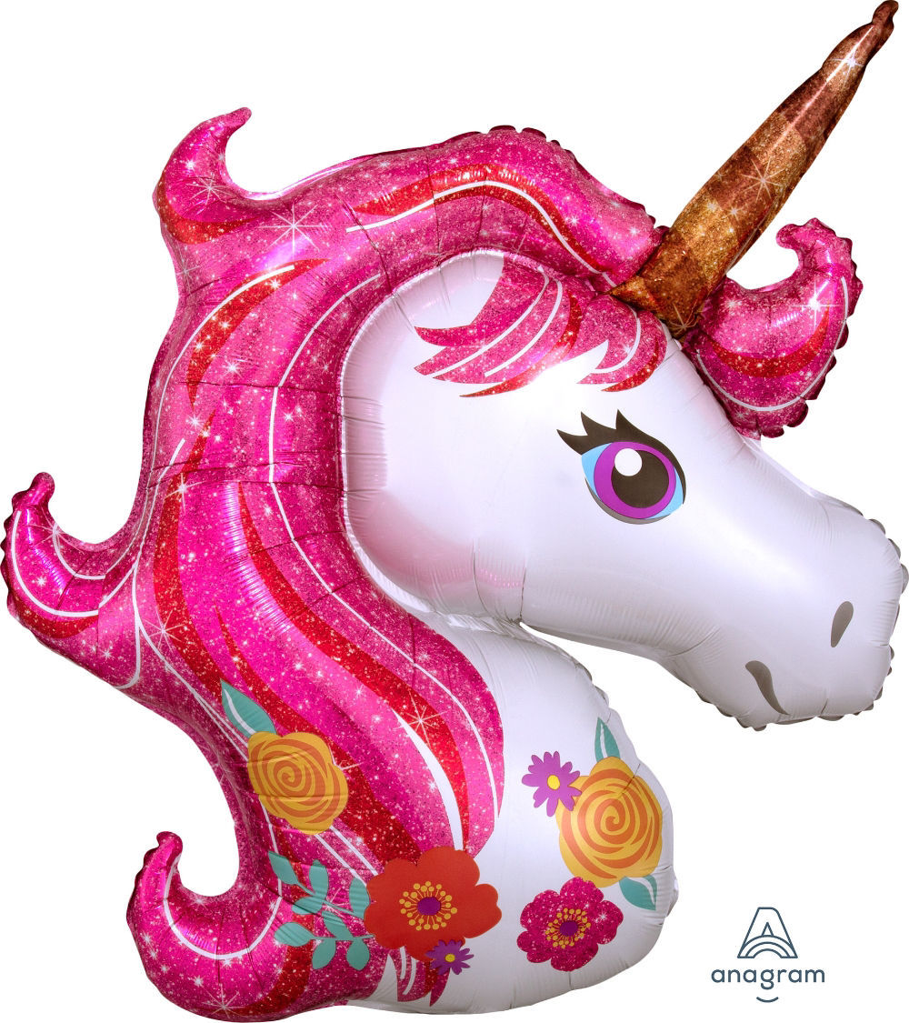 """Picture of 33"""" Magical Unicorn Foil Balloon  (helium-filled)"""