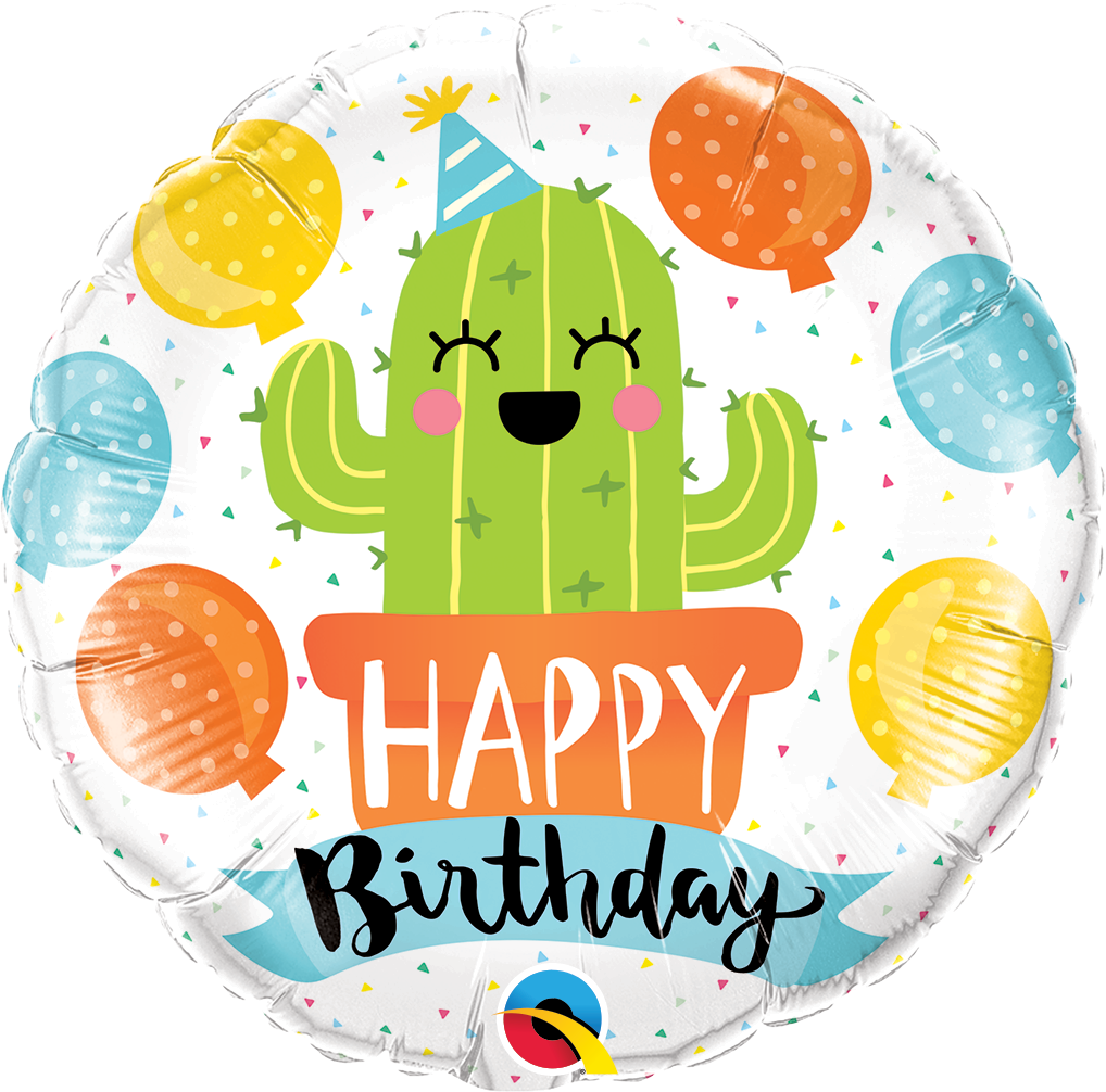"""Picture of 18"""" Birthday Party Cactus (helium-filled)"""