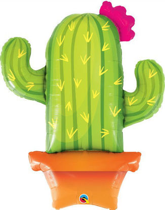 "Picture of 39"" Potted Cactus Foil Balloon  (helium-filled)"