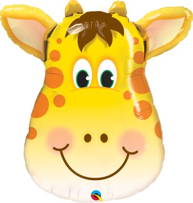 "Picture of 32"" Jolly Giraffe Foil Balloon  (helium-filled)"