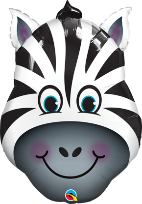 "Picture of 32"" Zany Zebra Foil Balloon  (helium-filled)"