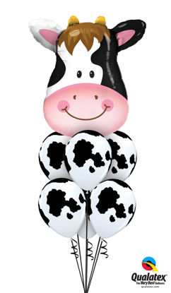 Picture of Contented Cow Balloon Bouquet (helium-filled)
