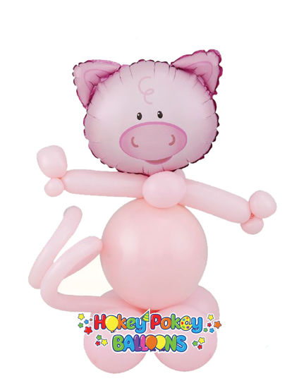 Picture of Mini Playful Pig - Balloon Centerpiece