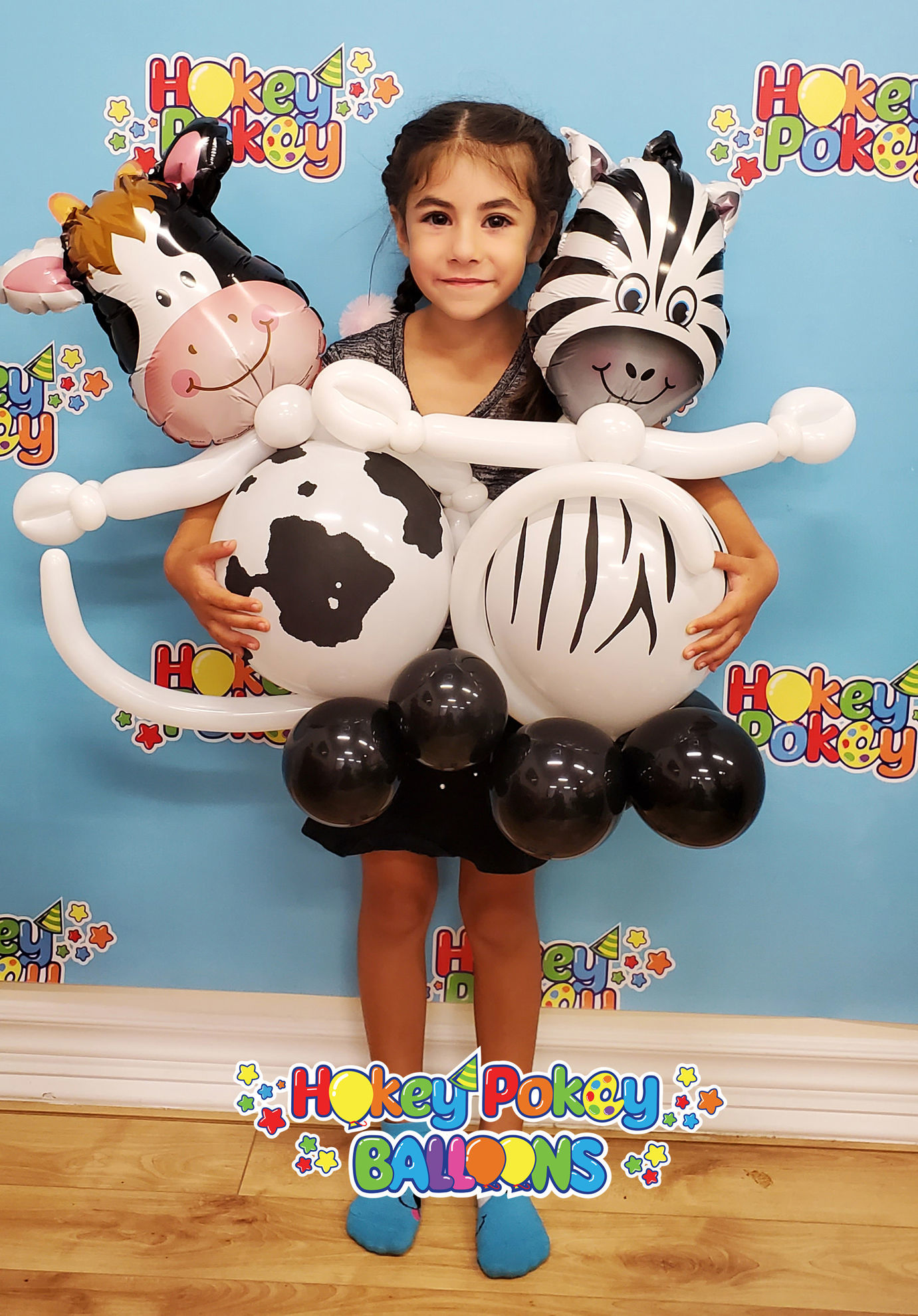Picture of Mini Contented Cow - Balloon Centerpiece