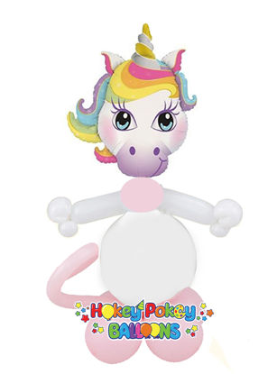Picture of Mini Magical Unicorn - Balloon Centerpiece