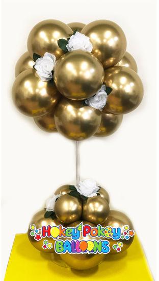 Picture of 12 Balloon Topiary Tree (one color) - Balloon Centerpiece (air inflated)