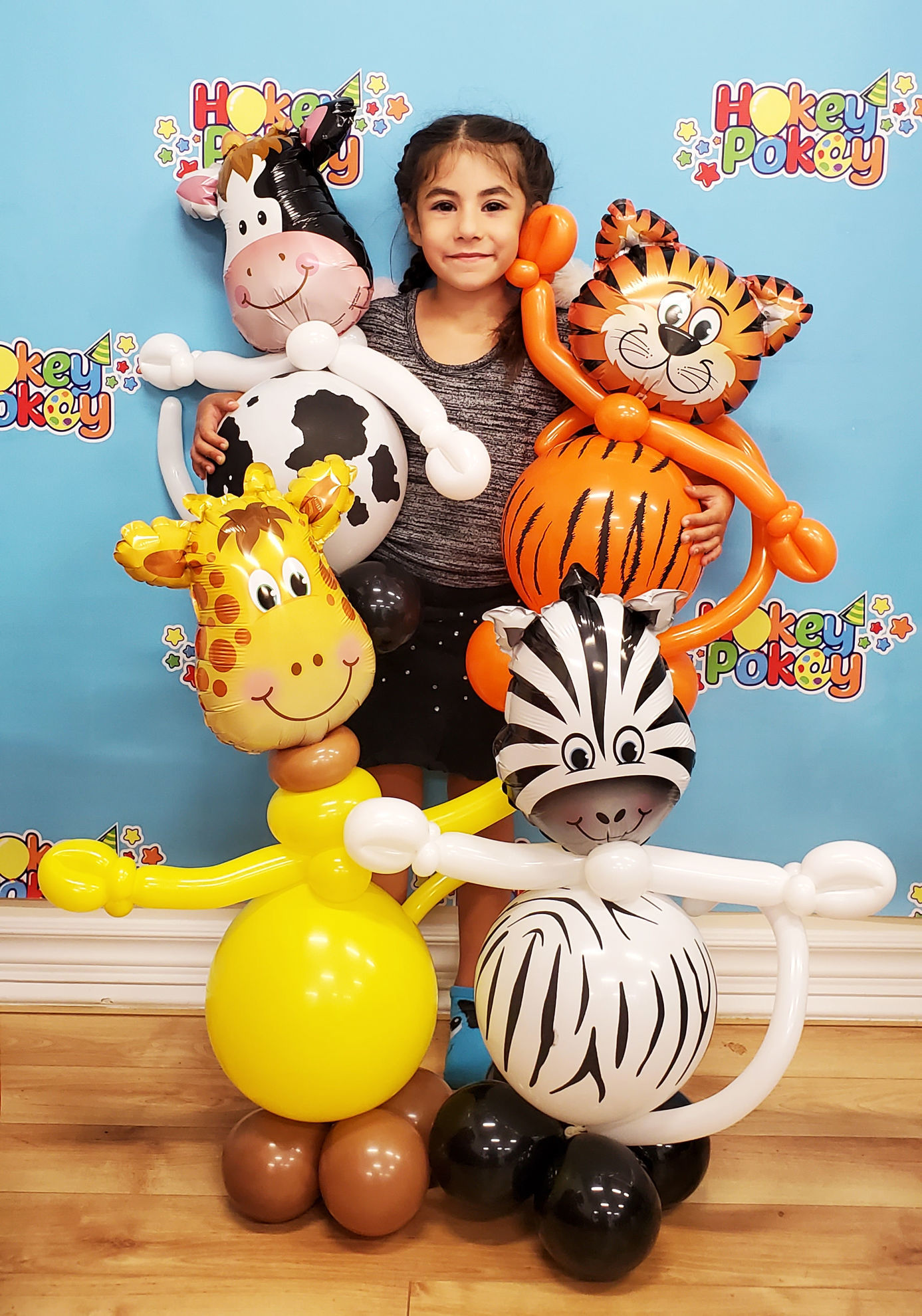 Picture of Mini Tickled Tiger - Balloon Centerpiece