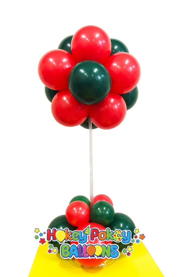 Picture of 12 Balloon Topiary Flower (two colors) - Balloon Centerpiece (air inflated)