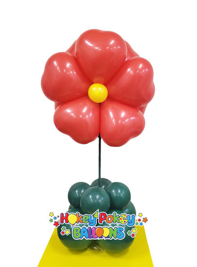 Picture of Heart Flower Topiary -  Balloon Centerpiece  (air inflated)