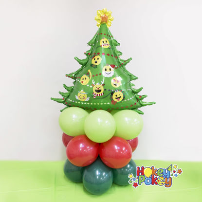 Picture of Emoticon Christmas Tree - Mini Balloon Column