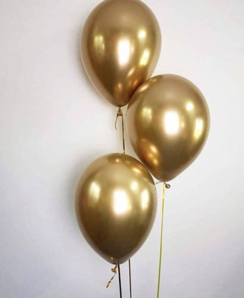 Picture of 11 Inch Helium Balloon Bouquet of 3