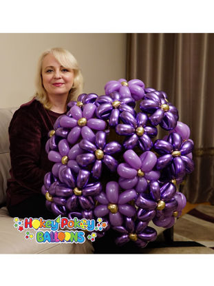 Picture of Premium Flower Balloon Bouquet (21 pc)