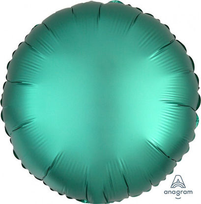 "Picture of 18"" Satin Luxe Jade Circle Foil Balloon   (helium-filled)"