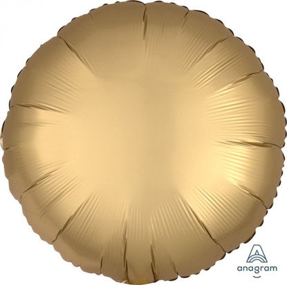 "Picture of 18"" Satin Luxe Gold Circle Foil Balloon (helium-filled)"