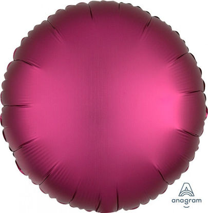"Picture of 18"" Satin Luxe Pomegranate Circle Foil Balloon  (helium-filled)"