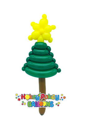 Picture of Christmas Tree with Star - Balloon
