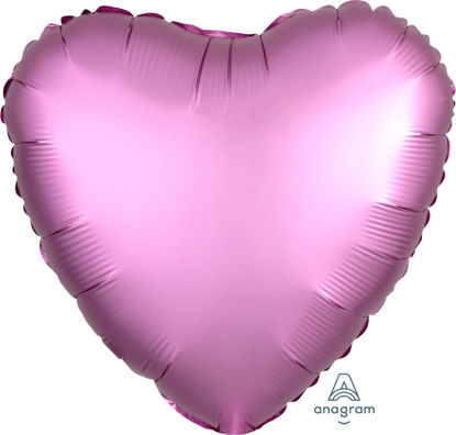 "Picture of 18"" Satin Luxe Flamingo Heart Foil Balloon (helium-filled)"