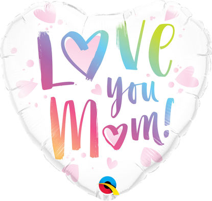 "Picture of 18"" Love You M(Heart)M! - Foil Balloon  (helium-filled)"