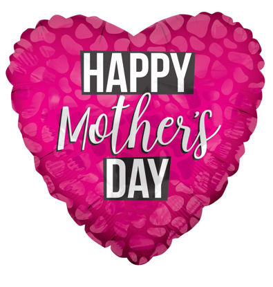 "Picture of 18"" Bright Pink Happy Mothers Day - Foil Balloon  (helium-filled)"