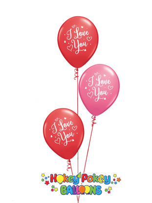 Picture of 11'' I love You -  Latex Balloon Bouquet (up to 25 balloons)