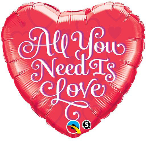 """Picture of 18"""" All You Need Is Love - Foil Balloon  (helium-filled)"""