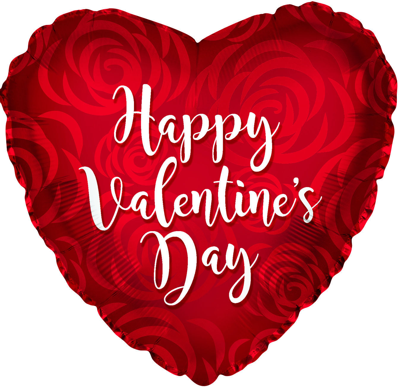 """Picture of 18"""" Happy Valentine's Day Rose Petal - Foil Balloon  (helium-filled)"""